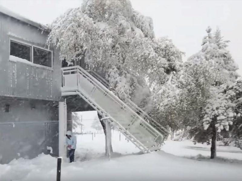 Это май? Юг Франции завалило снегом