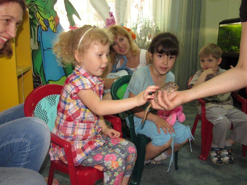 Николаевский зоопарк показал, как проходят сеансы детской зоотерапии