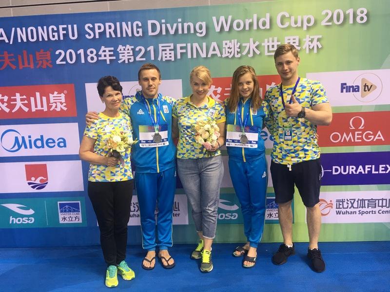 Николаевский прыгун в воду в паре с луганчанкой взял «серебро» этапа Кубка мира