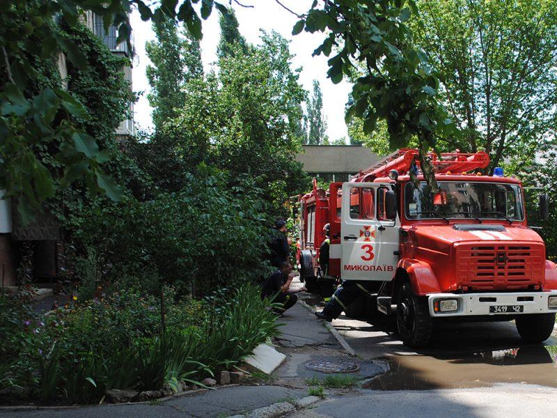 В девятиэтажке в «Лесках» загорелась электрощитовая