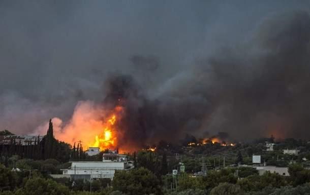 Украина предложила Греции помощь в тушении лесных пожаров