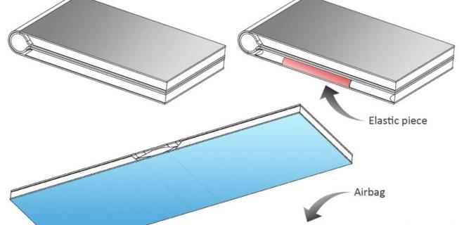 В Китае запатентовали сгибающиеся смартфоны с воздушной подушкой
