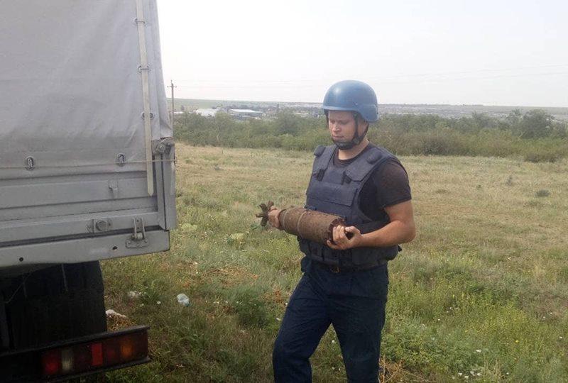 На Николаевщине обезвредили артснаряд, который случайно нашел мужчина