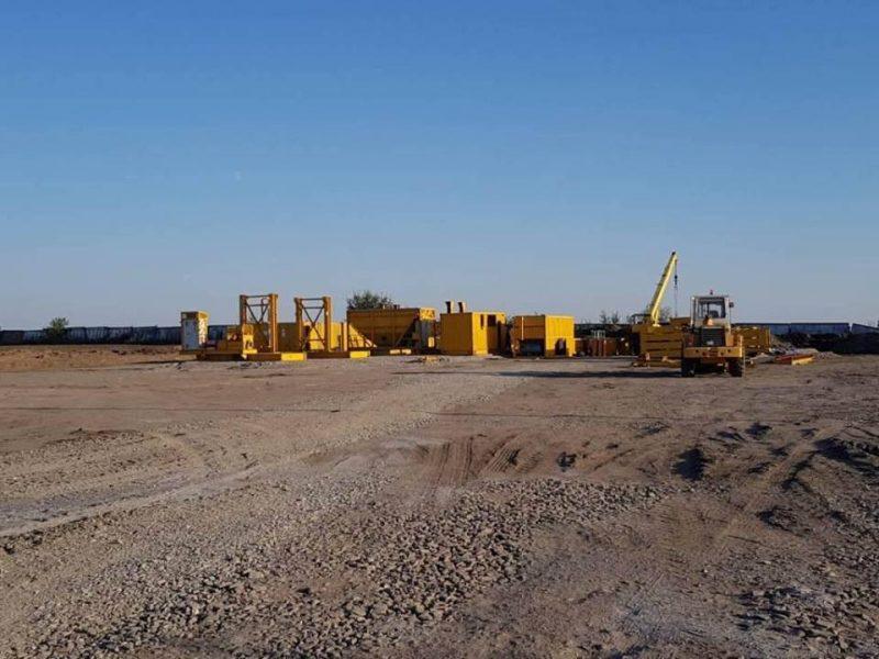 В Николаевской области белорусы начали монтировать асфальтобетонный завод