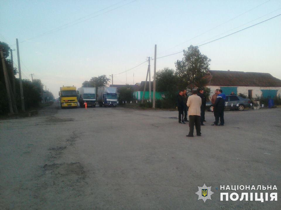 Третьи сутки на Николаевщине блокируют автодорогу Н-14. Полиция открыла уголовное производство 3