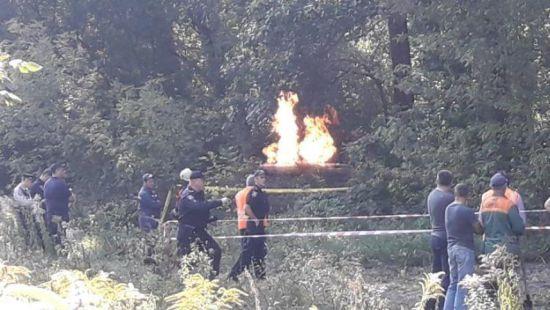На Сумщине взорвался газопровод, высота факела была более 10 метров