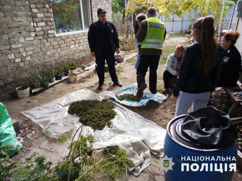"""Запасы на зиму: в Новом Буге задержали женщину, которая """"для себя"""" запасла 2 кг каннабиса"""