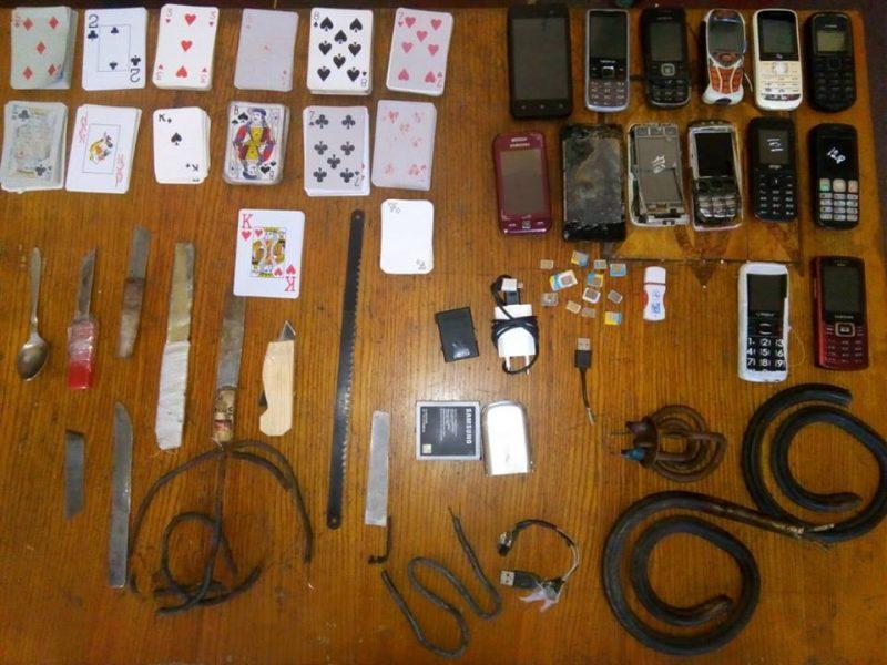 Карты, спортинвентарь, ножи и брага – что еще выявили при обыске камер Николаевского СИЗО