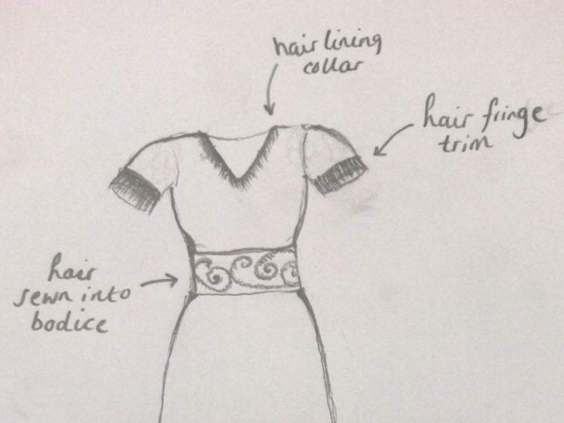 Жительница Великобритании хочет пошить себе бальное платье с украшениями из волос умершей матери
