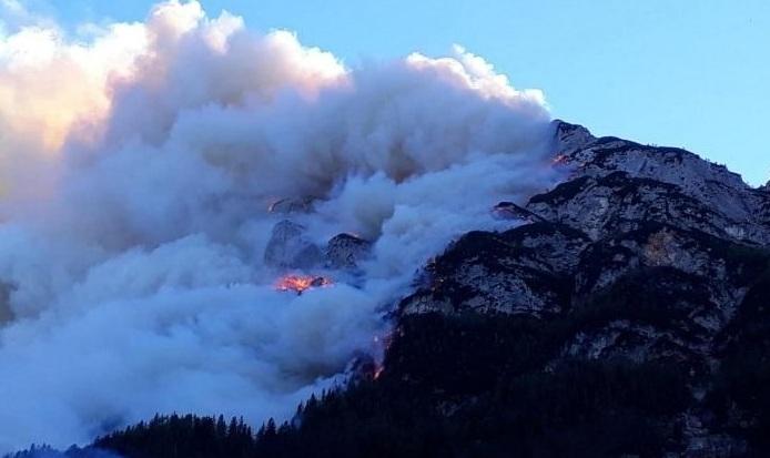 Не только в Греции – на севере Италии тоже сильно горит!