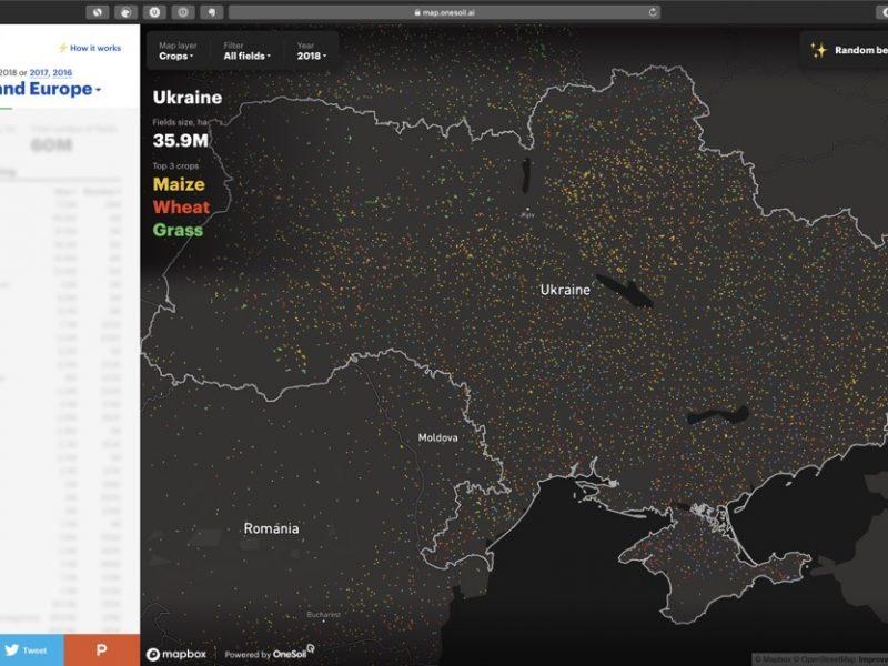 Минский стартап OneSoil запустил интерактивную карту сельскохозяйственных полей. Украина – на втором месте по площади