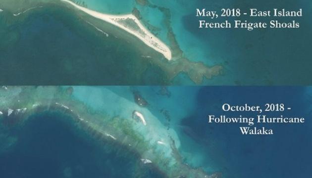 Гавайский остров Ист ушел под воду после мощного урагана Валака