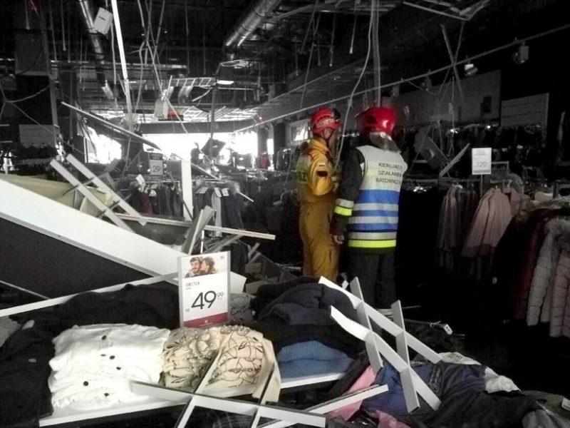 В польском торговом центре обвалился потолок – семеро людей пострадали