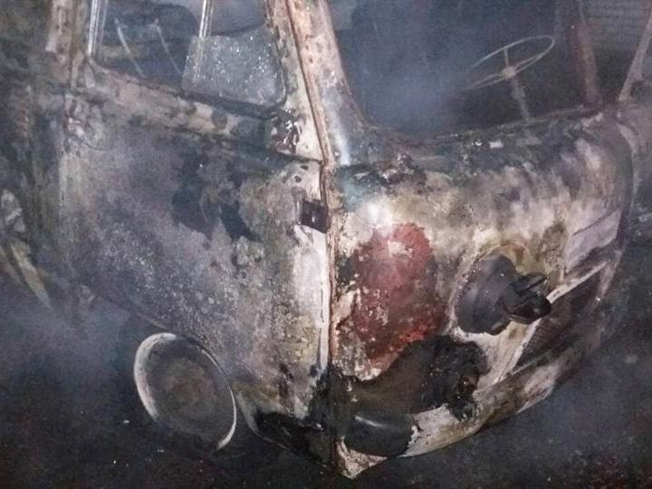 На Николаевщине ночью сгорел автомобиль