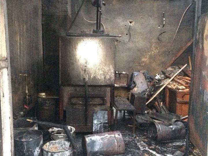Нарушение правил безопасности привело к пожару котельной в Заводском районе