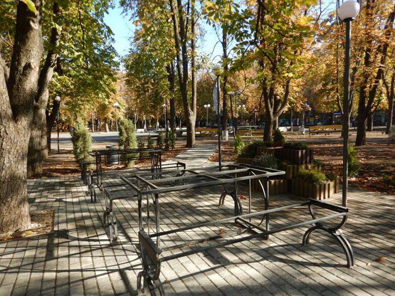 Для заядлых шахматистов в Каштановом сквере устроили «Шахматный городок»