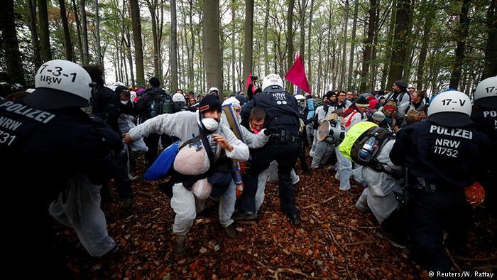 В Германии полиция открыла дела на 400 активистов, протестующих против вырубки леса