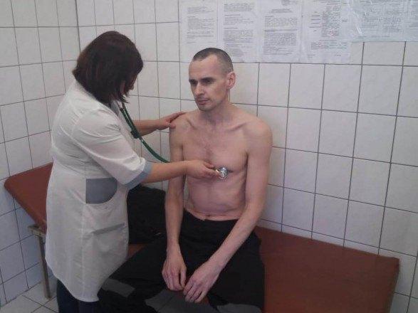 У Сенцова обнаружены поражения сердца, печени и почек