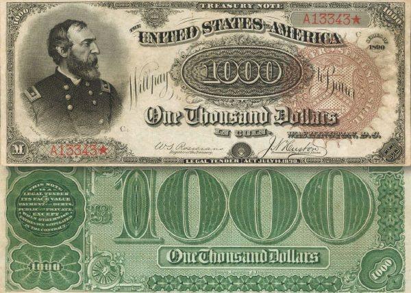 В США на аукционе редкую банкноту в $1000 продали за $2 млн