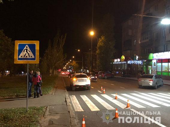 В Заводском районе Николаева автомобиль сбил 15-летнего подростка на пешеходном переходе
