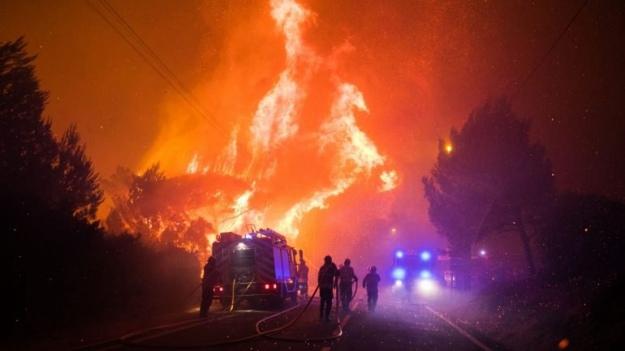 Вблизи Лиссабона вспыхнул крупный лесной пожар, сотни эвакуированных