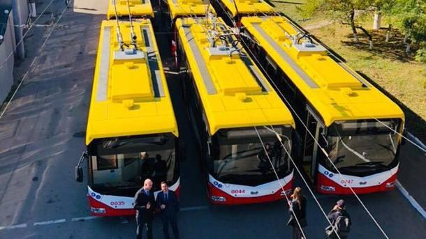 В Одессу прибыли 47 новых троллейбусов, купленных за деньги ЕБРР