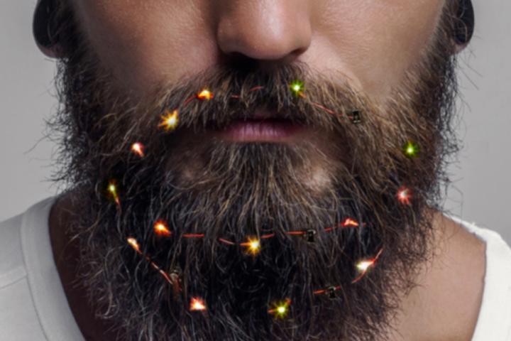 Рождество, которое всегда с тобой — в Британии начали продавать гирлянды для бороды