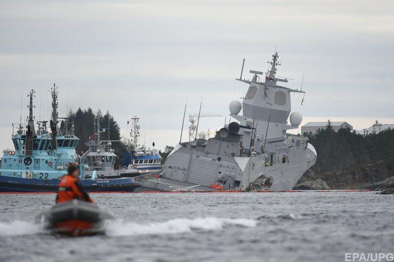 Столкновение судов у берегов Норвегии: фрегат оказался на грани затопления