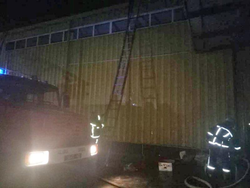 На Николаевщине горел магазин «АТБ»