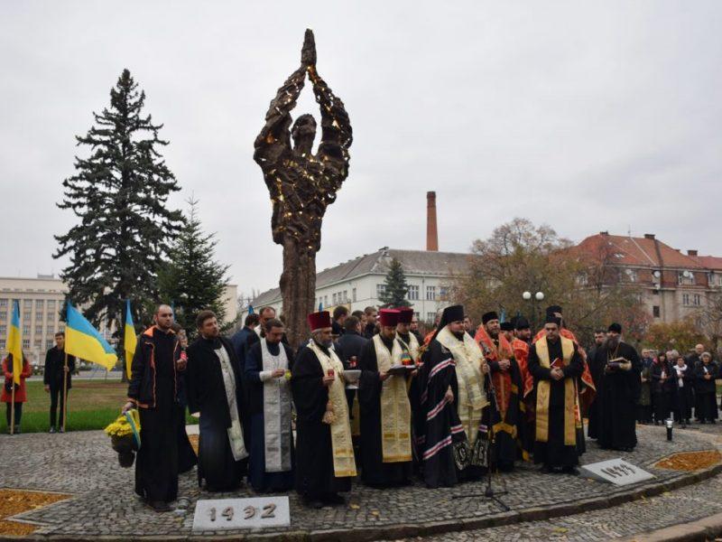 В Ужгороде открыли монумент жертвам Голодомора
