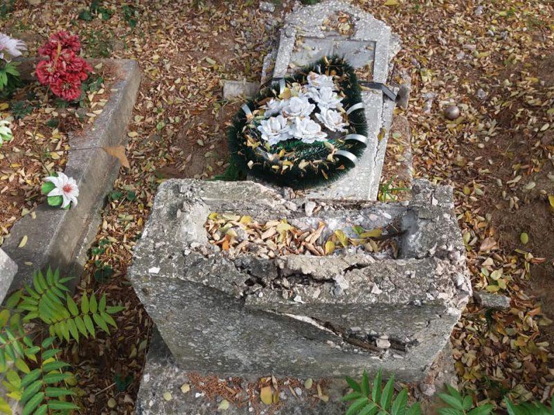 Николаевец предупредил о вандалах, которые ради металла разрушают памятники на Мешковском кладбище
