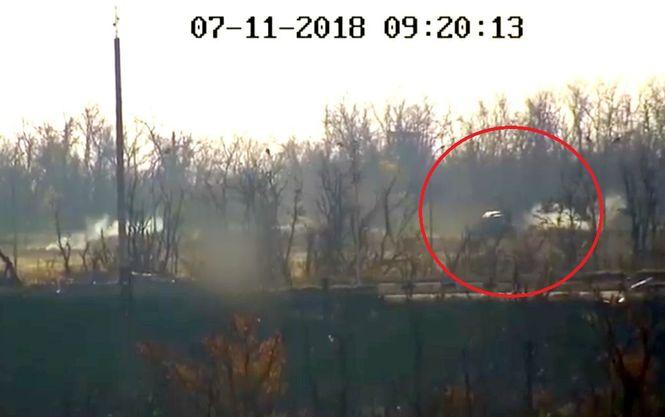 КамАЗ оккупантов попал под обстрел Объединенных сил