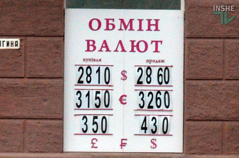 В Николаеве $ не улетел – слегка попрыгал. Данные обменников