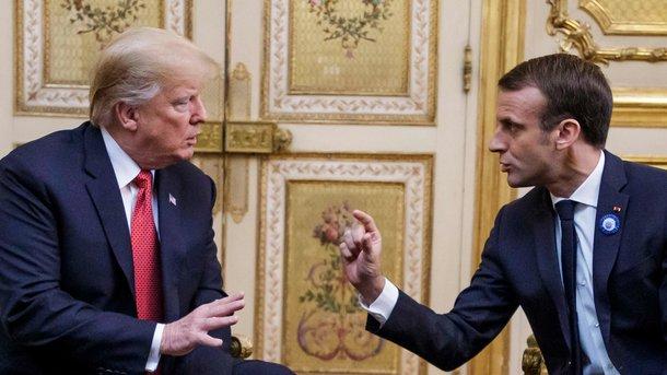 """Макрон ответил Трампу на требование """"заплатить за НАТО"""": быть союзником США не значит быть вассалом"""