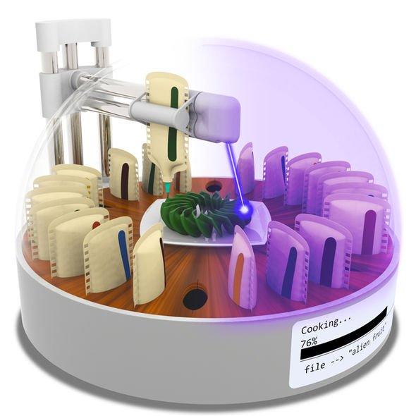 В США разработали 3D-принтер, умеющий печатать продукты и готовить их