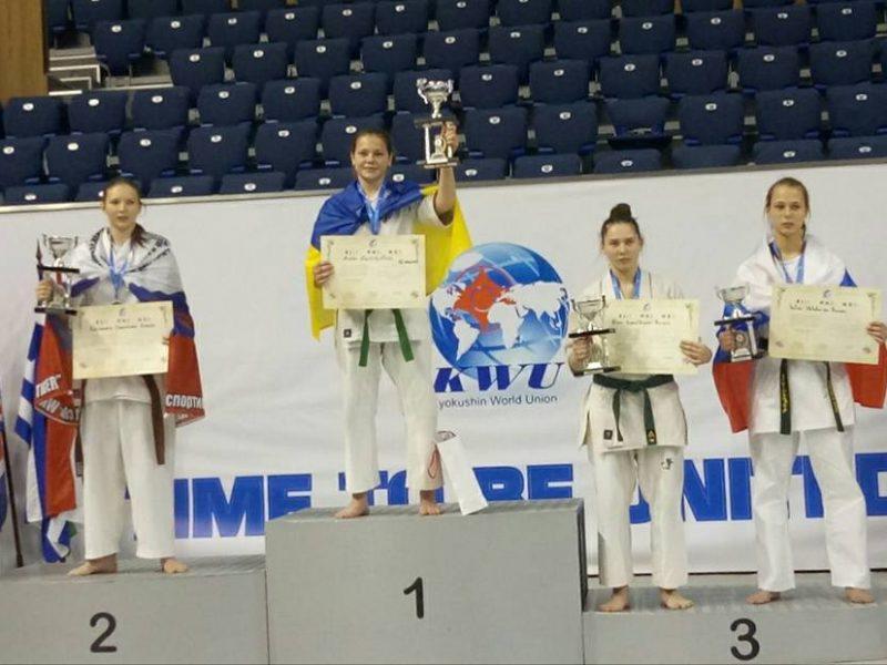 Юная спортсменка из Николаевской области стала чемпионкой мира по Киокусин Кай каратэ