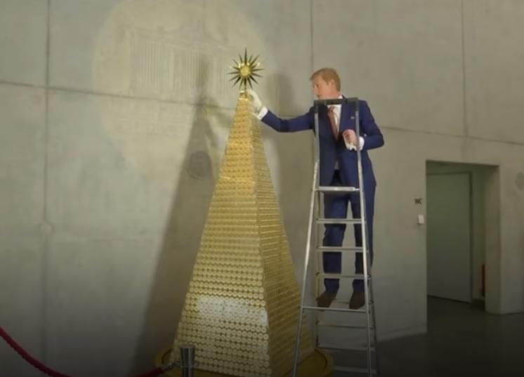 В Мюнхене установили самую дорогую рождественскую елку в Европе