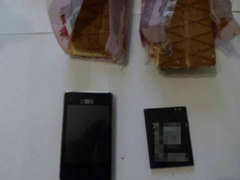 В Снигиревскую колонию пытались передать телефон, спрятанный в бисквите