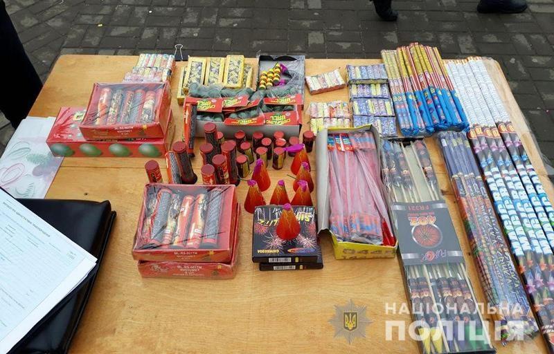 В Николаеве полиция вчера изъяла 600 единиц пиротехники