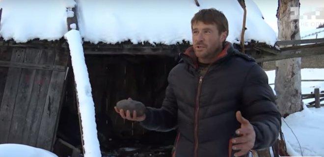 В Карпатах во двор жителя села упал метеорит