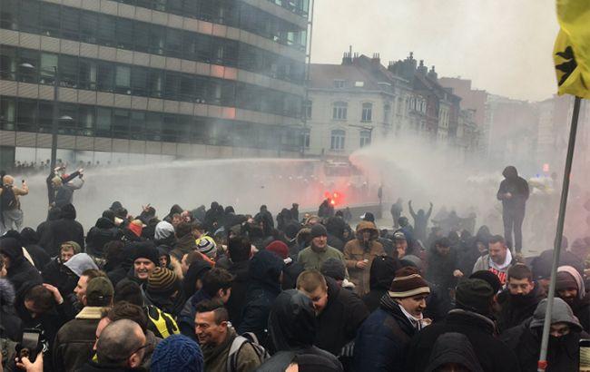 В Брюсселе произошли столкновения между полицией и протестующими