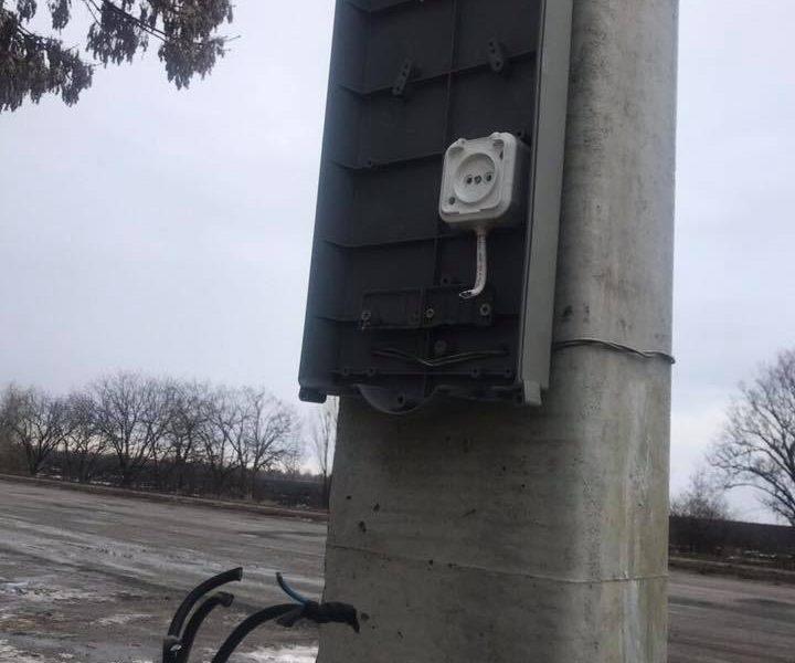 На пункте ГВК на «киевской» трассе на Николаевщине повредили щиток для работы в темное время