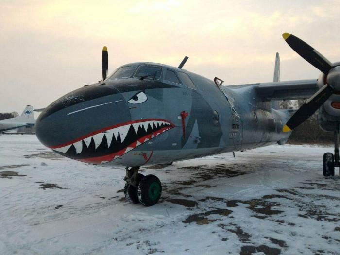 С акулой и черепами. Украинская авиакомпания купила в Голливуде знаменитый самолет — с ним снимался Сталлоне