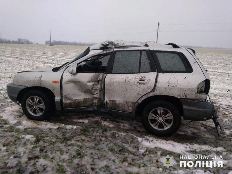 В ДТП на Николаевщине пострадал водитель легковушки