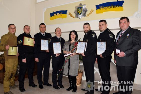Глава полиции Николаевщины поощрил лучших правоохранителей и волонтеров области