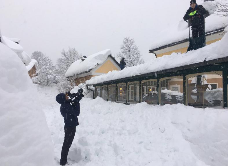 Европу накрыло сильнейшими за последние десятилетия снегопадами