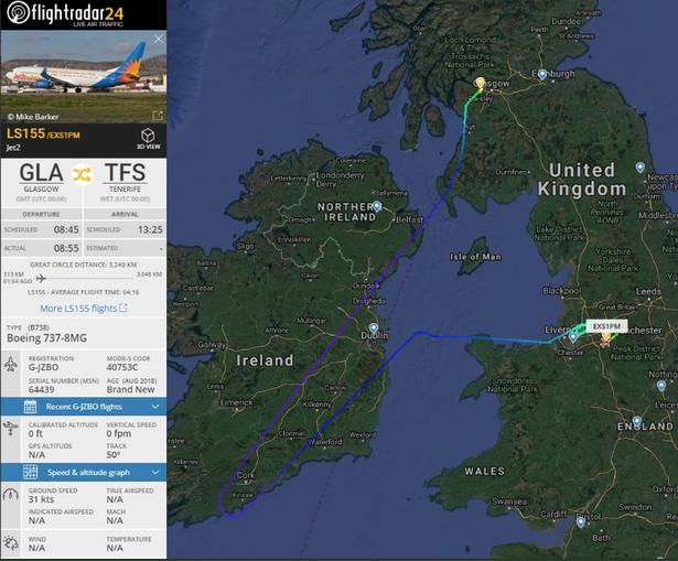 Из-за отсутствия воды для чая и кофе на борту самолет, летевший из Великобритании на Канарские острова, сделал крюк и вернулся