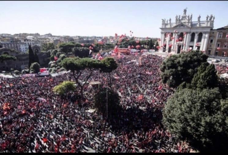 Профсоюзы вышли на крупнейшую акцию протеста с 2015 года в столице Италии