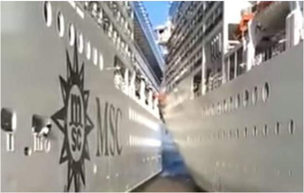 """""""Слегка соприкоснувшись рукавами"""". В Аргентине столкнулись круизные лайнеры"""