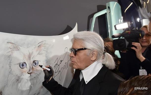 Наследницей состояния Лагерфельда может стать его кошка
